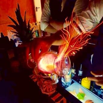 podpalane drinki