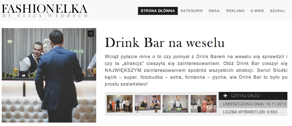 Główna Eliza Wydrych - drink bar