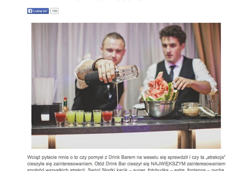 drink bar na weselu opinie